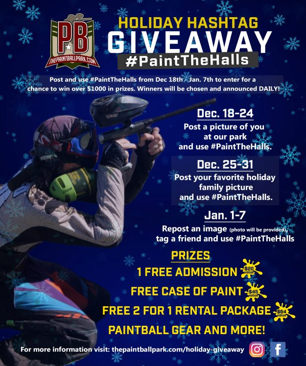 hashtag giveaway the paintball park at quanitco paintball airsoft 5528